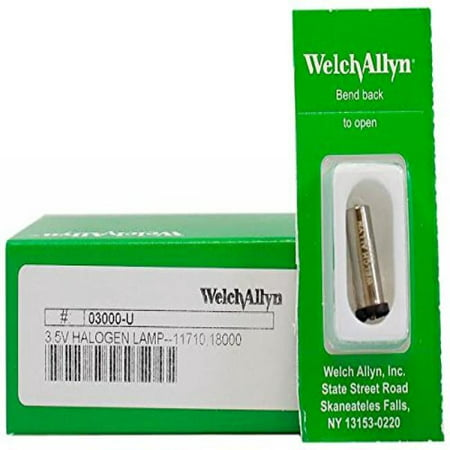 - Welch Allyn Model 03000-U Original Brand 3.5V Halogen Replacement Lamp