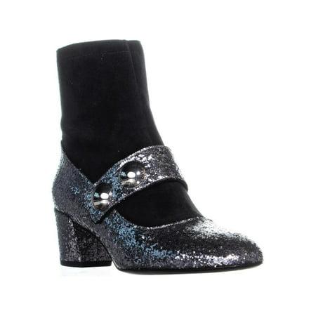 - Womens Marc Jacobs Margaux Cabochon Ankle Boots, Antique Silver