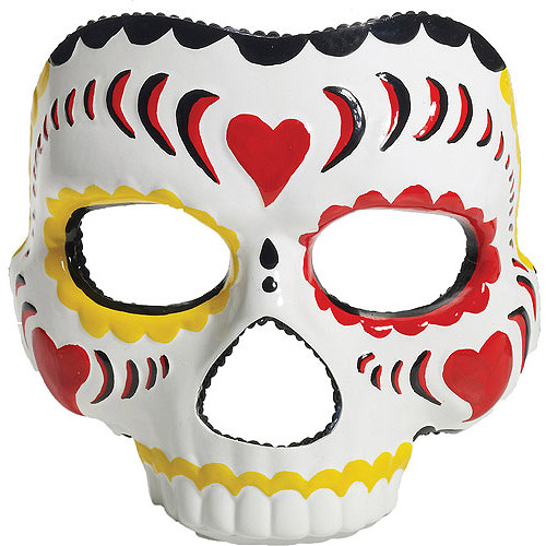Day of the Dead Female Mask Adult Halloween Accessory