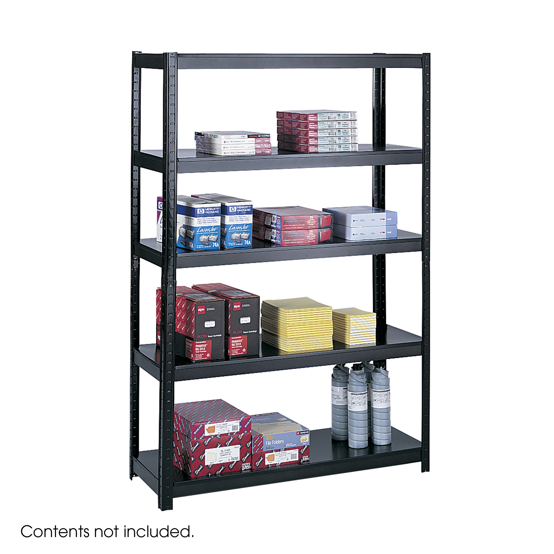 Lot of 5 Safco 48 Inch Wide 18 Inch Deep Boltless Shelving steel