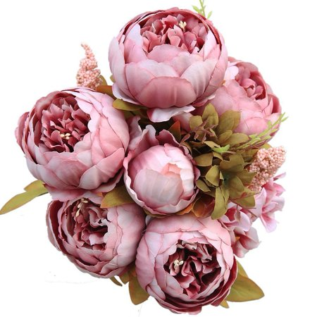 Outop fake flowers vintage artificial peony silk flowers wedding outop fake flowers vintage artificial peony silk flowers wedding home decoration mightylinksfo