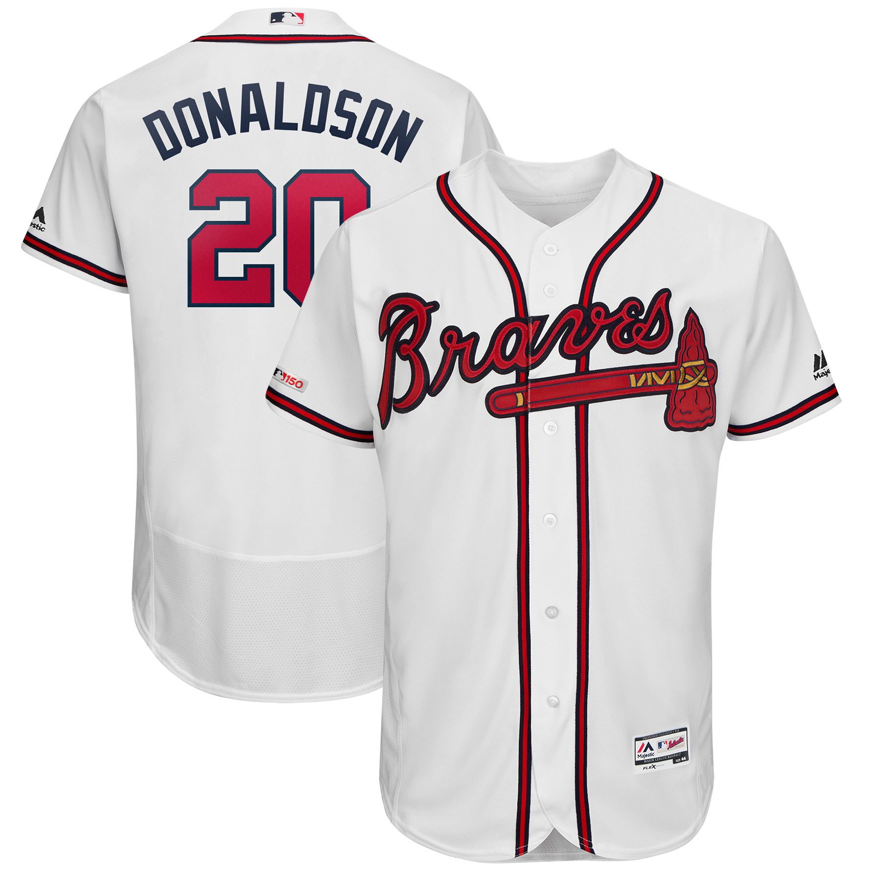 Josh Donaldson Atlanta Braves Majestic Home Flex Base Authentic Collection Player Jersey - White