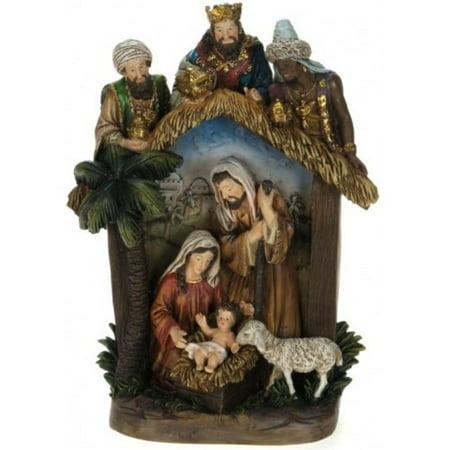 12 Religious Nativity Creche Scene Christmas Table Top Decoration