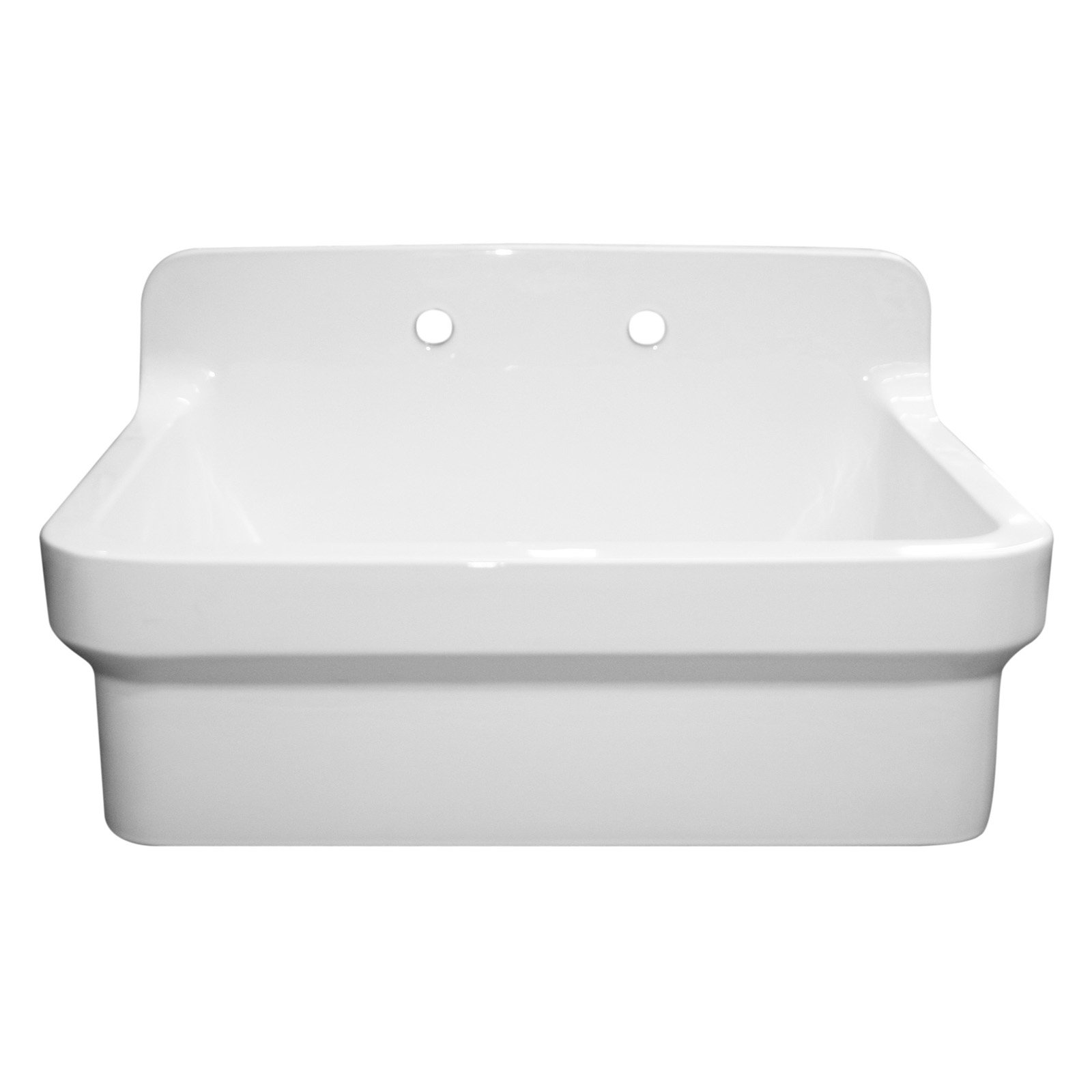 Whitehaus WHCW3022 8 Countryhaus Vitreous China Wall Mount Or Drop In  Utility Sink