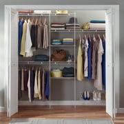 Closetmaid Closet Organizer Kit with Shoe Shelf, 5' to 8'
