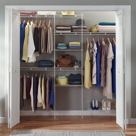 Closetmaid Closet Organizer Kit with Shoe Shelf, 5' to