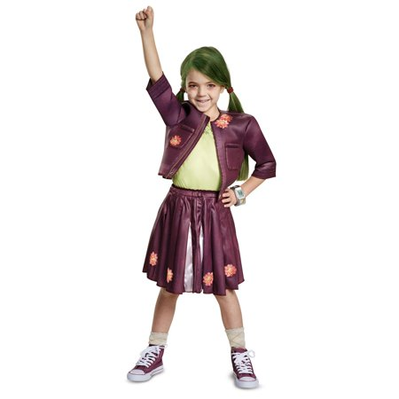 Cheerleading Uniforms Costumes (Z-O-M-B-I-E-S Zoey Cheerleading Outfit Classic Child)