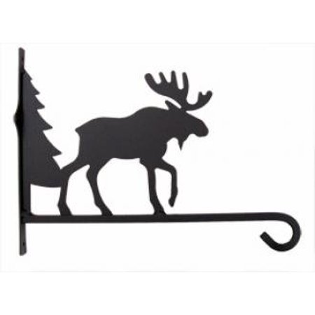 Village Wrought Iron PHD-22-12 Moose and Tree Plant Hanger
