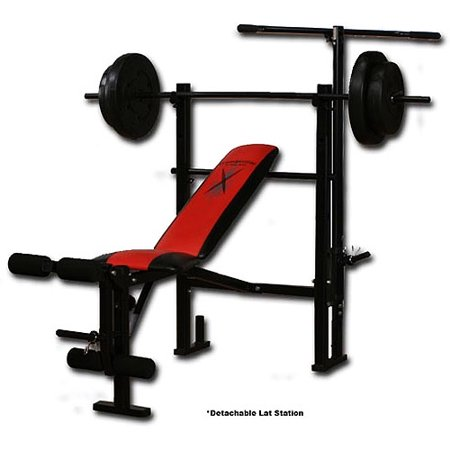 Competitor Weight Bench With 80 Pound Weight Set