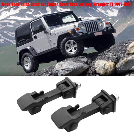 Hood Lock Latch Catch Car Engine Cover Lock for Jeep Wrangler TJ 1997-2007 - image 2 de 7