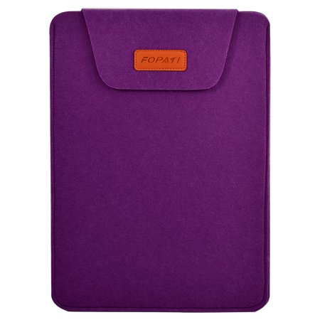 ba08e4ae692c 12 Wool Felt Protective Notebook Laptop Sleeve Bag for Tablet PC Purple