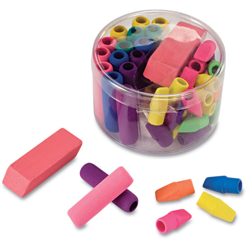 Officemate Eraser Pack, Assorted Colors, 45pk