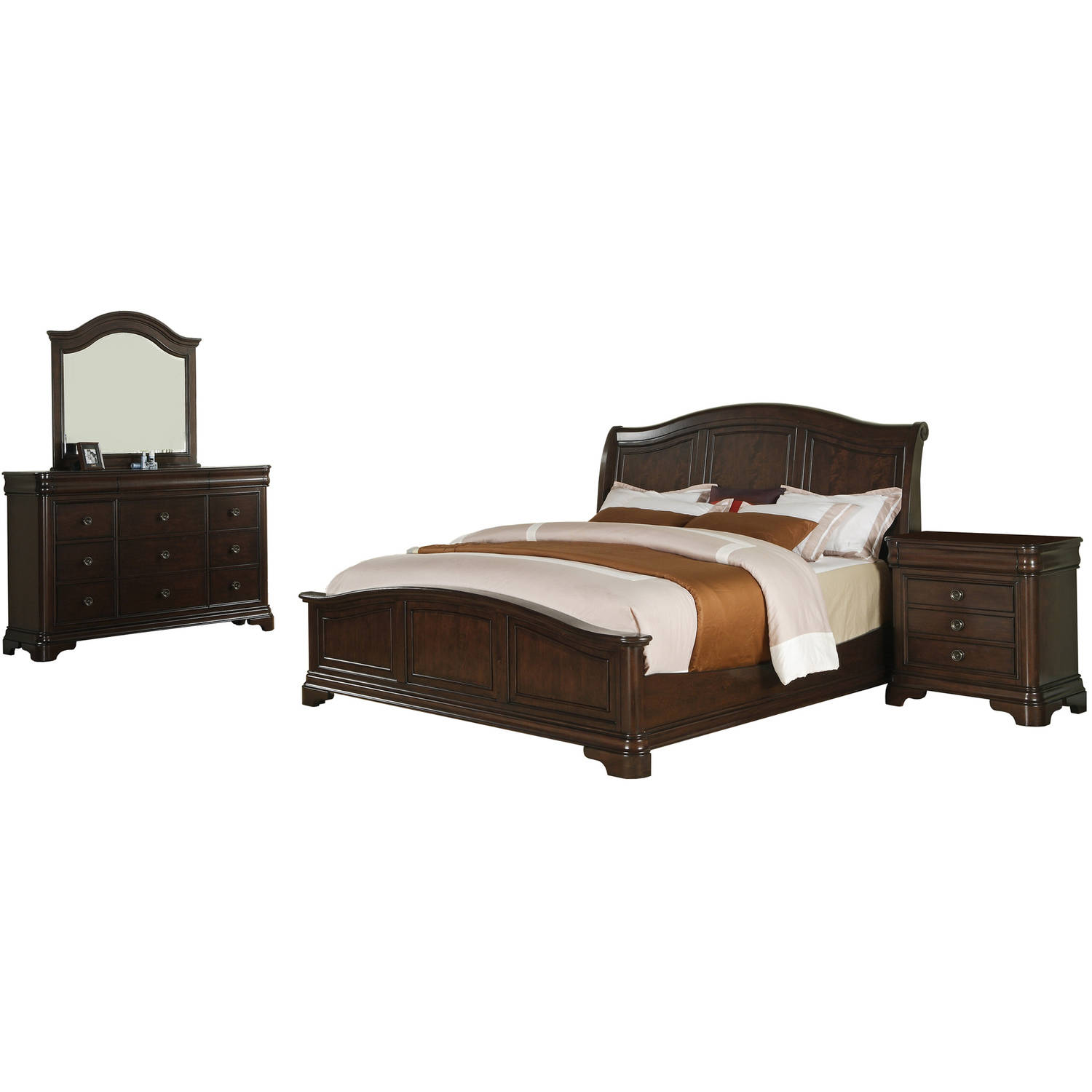 Picket House Furnishings Conley Cherry Queen Panel 4PC Bedroom Set