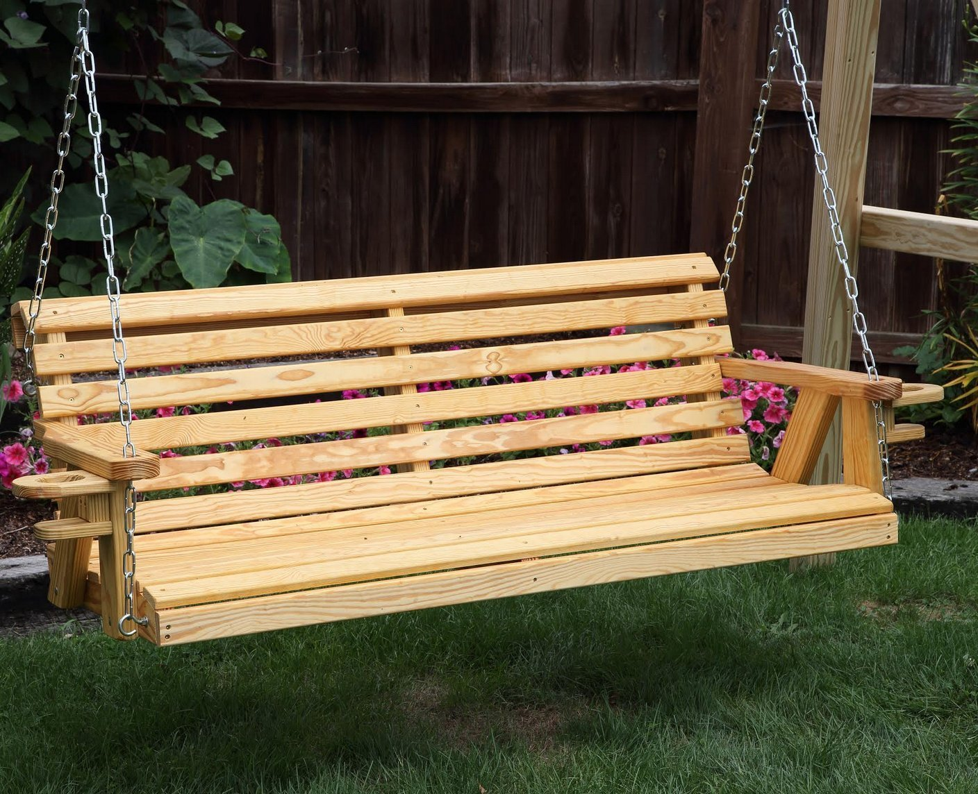 Charmant Outdoor Garden Lawn Patio 5 Ft Honey Gold Finish Quick Sh..