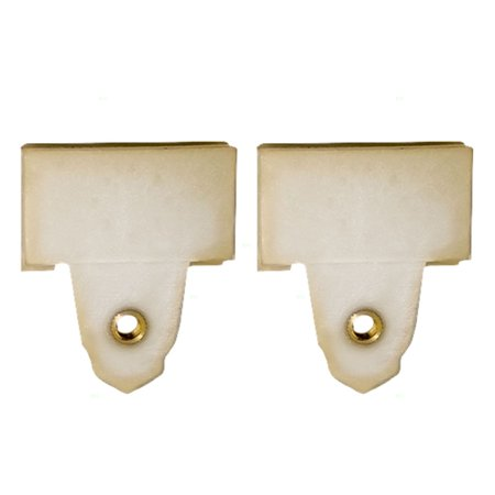 BROCK Window Regulator Sash Connector Channel Guide Clips Set of Two Replacements for 99-05 Pontiac Grand Am 99-04 Oldsmobile Alero - Grand Caravan Front Window Regulator
