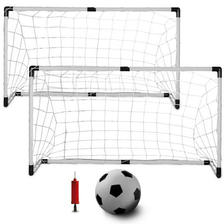 K-Roo Sports Youth Soccer Set with 2 Goals, Mini Soccer Ball, and