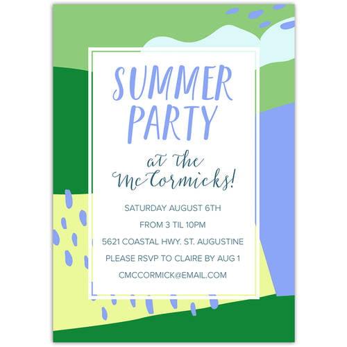 Abstract Splash Party Summer Invitation