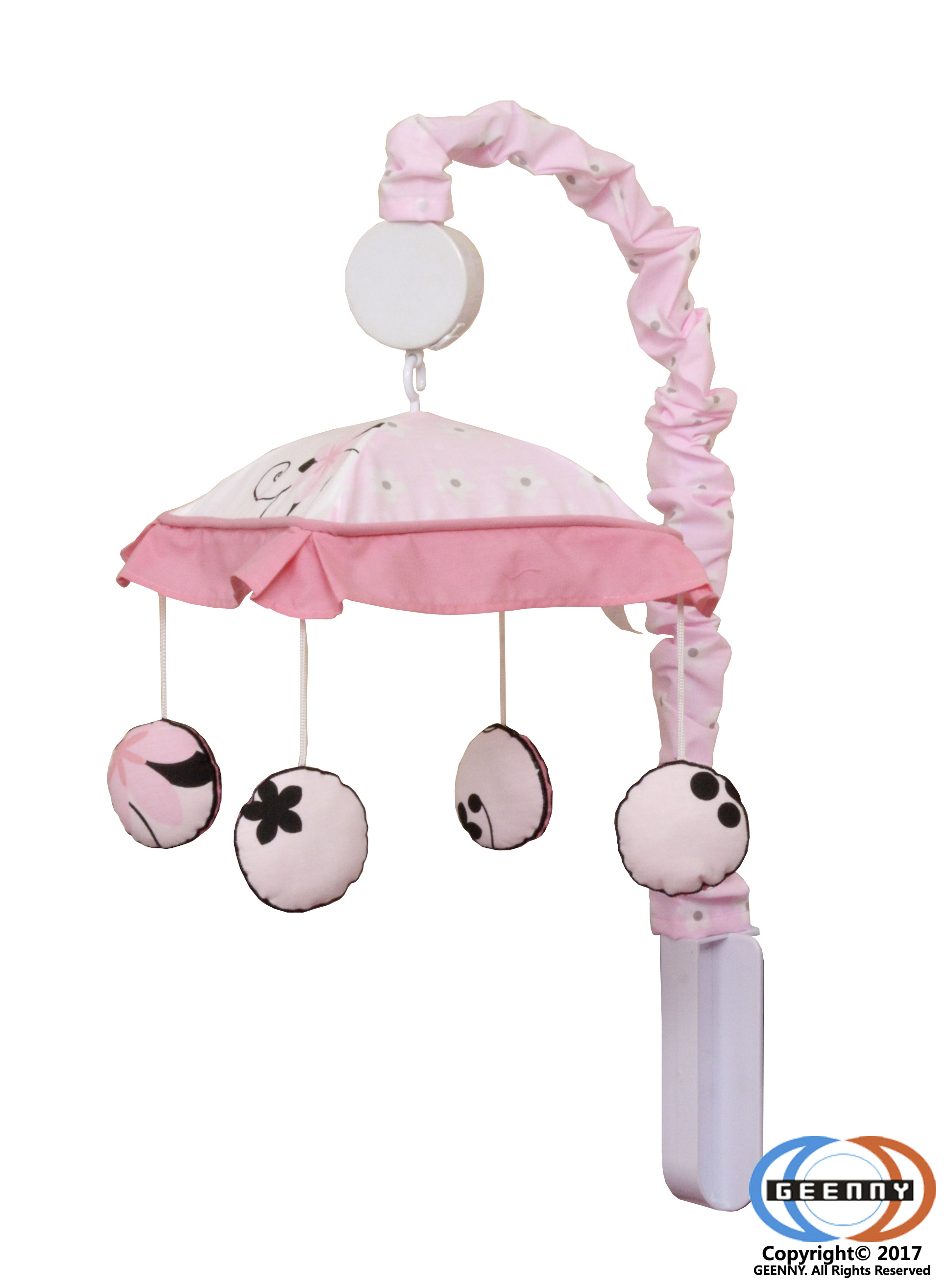 GEENNY Musical Mobile, New Pink Butterfly by GEENNY