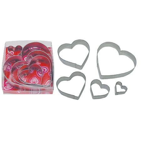 Valentine's Hearts 5 Piece Cookie Cutter Set - - Valentine Cookie