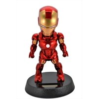 Marvel Avengers 5-Inch Iron Man Solar Powered Bobble-Head Action Relaxation Toy For Car Home Office.Limited Edition.