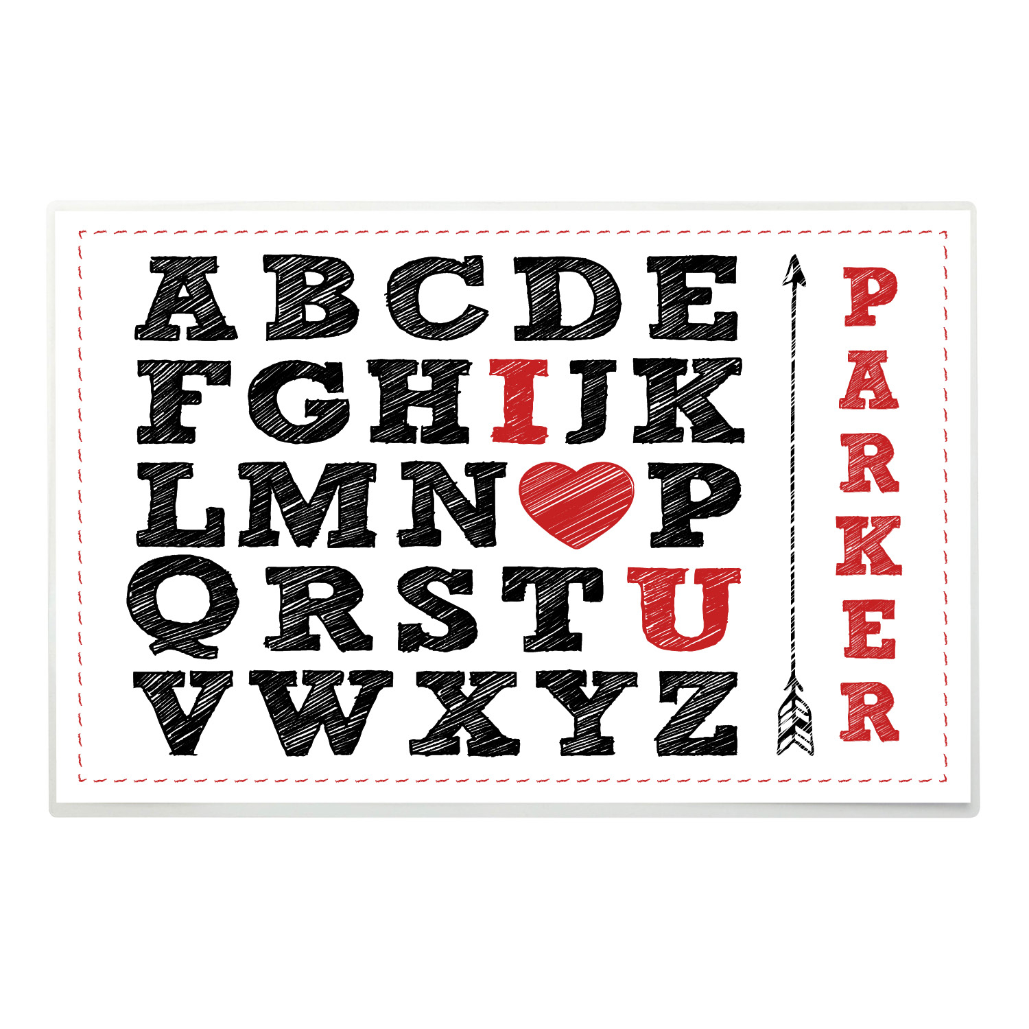 Letters of Love Personalized Placemat for Him
