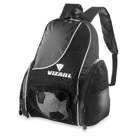efc93a3149 Vizari Sport Solano Soccer Backpack Black - Walmart.com