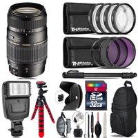 Tamron 70-300mm Lens for Nikon + Flash +  Tripod & More - 32GB Accessory Kit