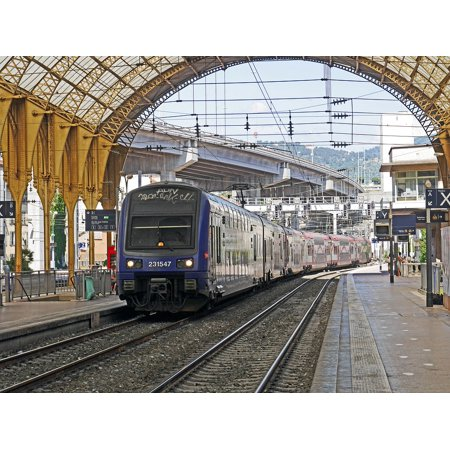 Canvas Print Regional Train Concourse Doppelstockzug Transport Stretched Canvas 10 x - Concourse Single