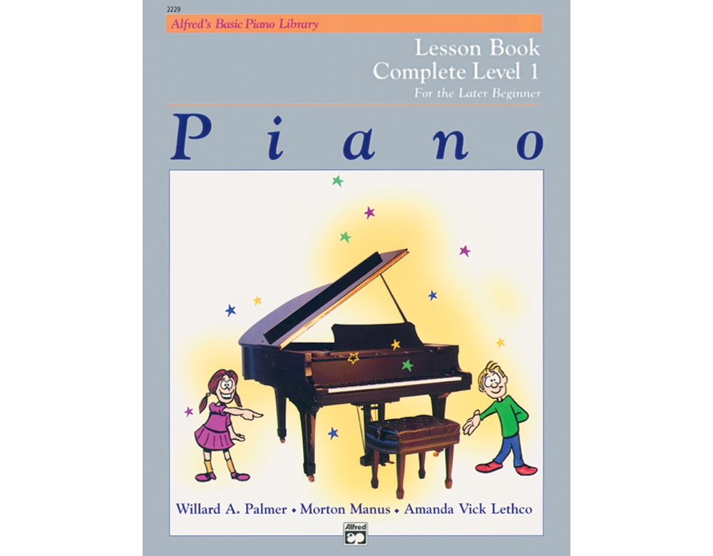 Click here to buy Alfred 00-2229 Basic Piano Course- Lesson Book Complete 1- 1A-1B Music Book by Alfred.