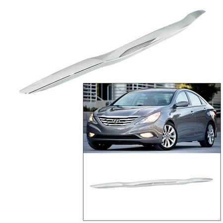 Chrome Trunk Molding (for Hyundai Sonata 2011-2013 Hood Garnish Molding Trim Snap-on Moulding Chrome )