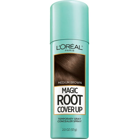 L'Oreal Paris Magic Root Cover Up Gray Concealer Spray, Medium Brown, 2