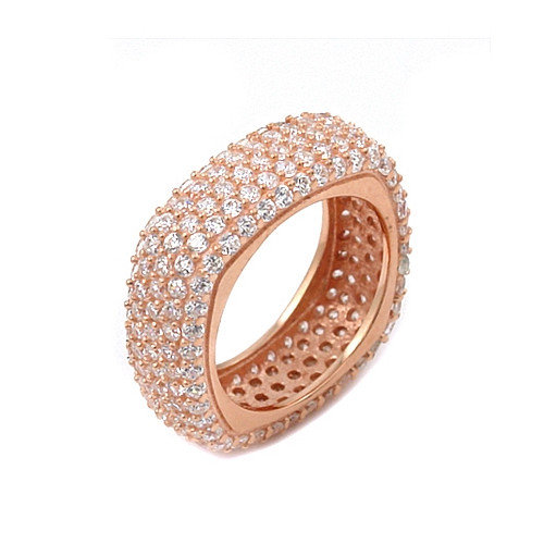 Plutus Partners Sterling Silver Pave Cubic Zirconia Ring