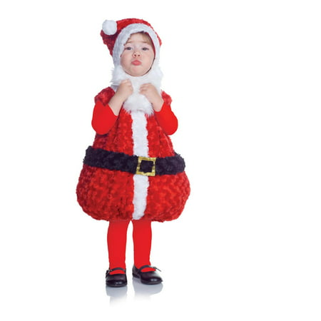 Underwraps Baby Santa Costume, Red/White/Black, Large (Toddler Santa Costume)