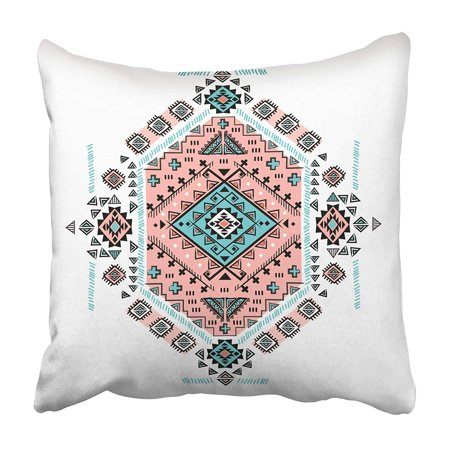 EREHome Flower Beautiful Tribal Mexican Ethnic Floral Aztec Arabic Festive Sun Pillowcase 20x20 inch - image 1 de 1