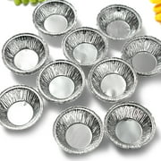 125Pcs Mini Shells Disposable Aluminum Foil Baking Cookie Muffin Cupcake Egg Mold Round Tins Pan