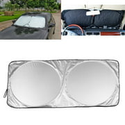 "IClover Auto Car Jumbo Sunshade Foldable Windshield Sun Shade Visor Clean Design (59""x33"") for Heat Block Wind Shield Screen UV Rays Full Protection, Trucks SUVs Vans"