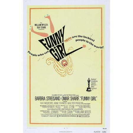 Funny Girl Us Poster Barbra Streisand 1968 Movie Poster Masterprint ()