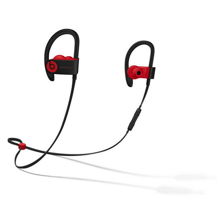 Refurbished Apple Beats Powerbeats3 Defiant Black Red Decade Collection In Ear Headphone MRQ92LL/A