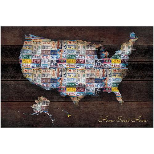 "US Map 22.375"" x 34"" Poster Print"