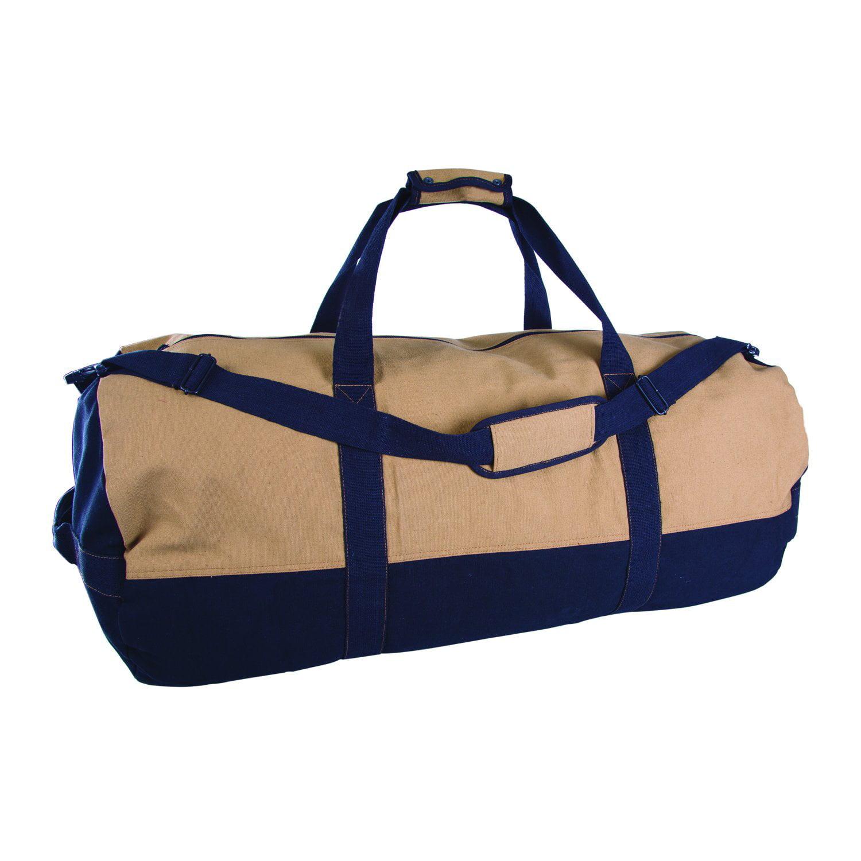 "Duffle Bag with Zipper, 2-Tone, 18"" x 36"" by Generic"
