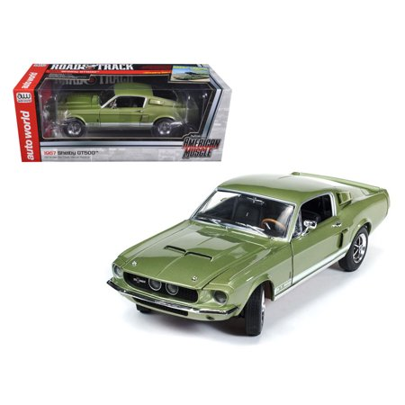 Mustang Shelby Gt500 Specs (1967 Ford Shelby Mustang GT500 GT 500 Light Green Limited to 1500pc 1/18 Diecast Model Car by Autoworld)