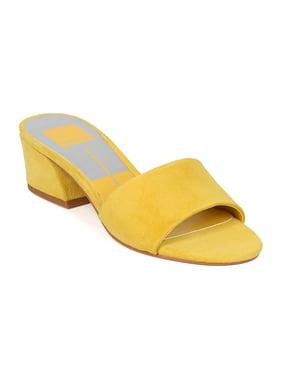 b92c15bb8e4d80 Product Image Dolce Vita Rilee Women Suede Open Toe Low Block Heel Slide  HA58