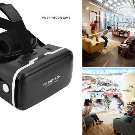 3D VR Headset Virtual Reality Headset VR Goggles for 3D Movie Video Game with Adjustable Stereo Headphone Compatible with iPhone,Samsung and Other 3.5 to 6.0 inches (Virtual Reality Video)