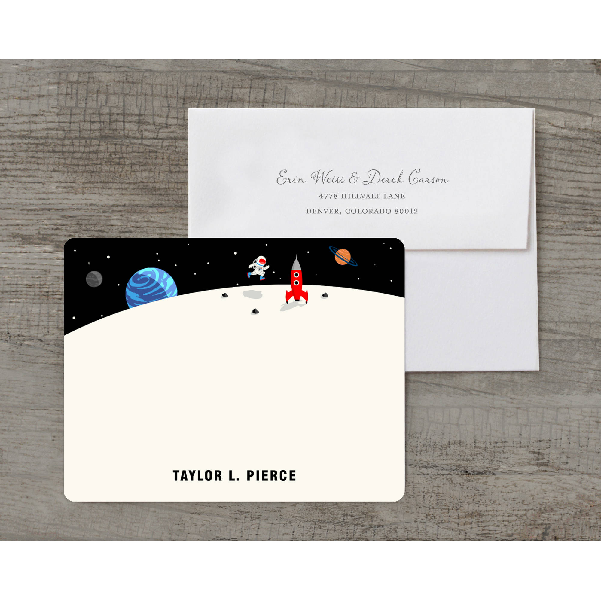Space Hero Deluxe Notecard
