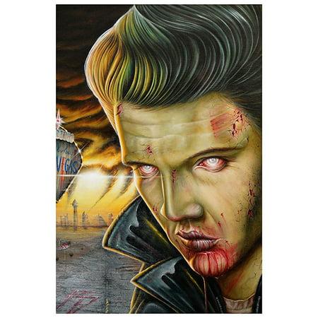 Viva Las Vegas by Randy Drako Undead Elvis Zombie Monster Tattoo Poster (Tattoo Shops In Las Vegas Open 24 7)