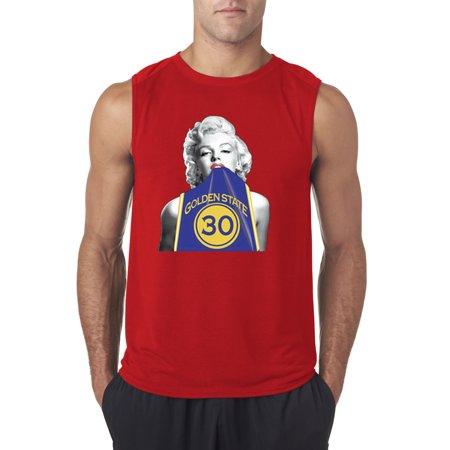 Marilyn Monroe Favorite Color - New Way 503 - Men's Sleeveless Marilyn Monroe Stephen Curry Basketball Series