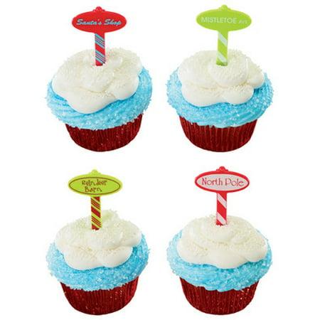 North Pole Cupcake Decoration Picks 12 ct](Picks Of The Pole)