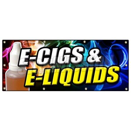 36 X96  E Cigs   E Liquids Banner Sign Smoking Head Shop Cigarette Vape Vaporize