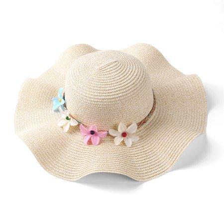 Straw Hats For Women - Women's Year Round Sofia Wavy Brim Floopy Straw Hat