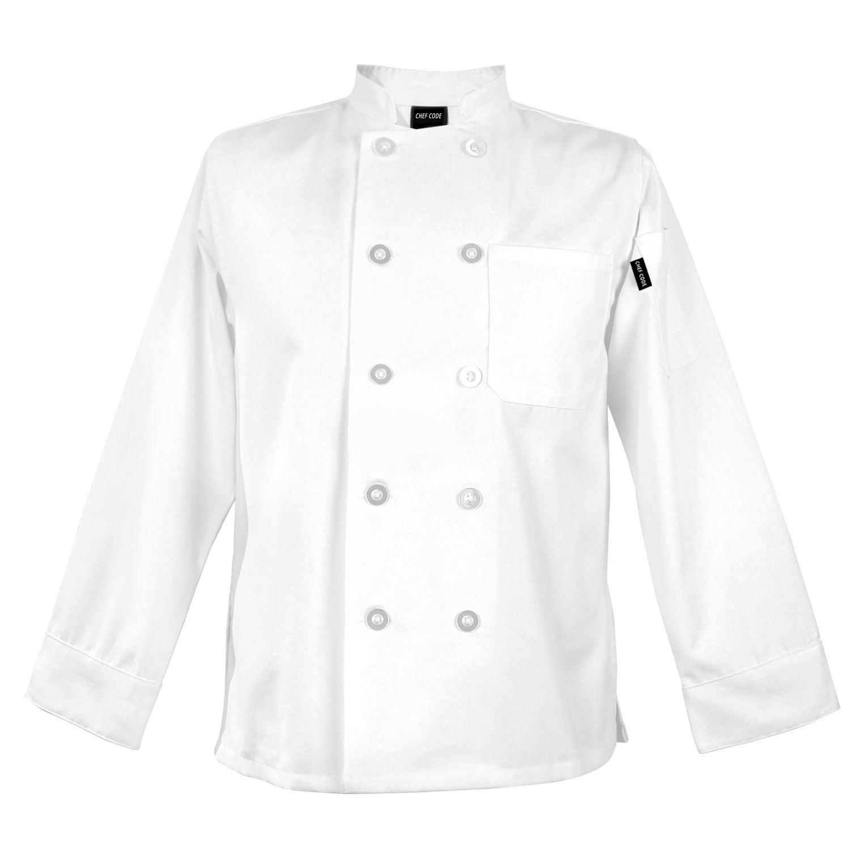 Chef Code Womens Basic Chef Coat, Flattering Feminine Fit CC115 by Chef Code